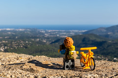 In the heights of Provence (Ballou34) Tags: 2018 7dmark2 7dmarkii 7d2 7dii afol ballou34 canon canon7dmarkii canon7dii eos eos7dmarkii eos7d2 eos7dii flickr lego legographer legography minifigures photography stuckinplastic toy toyphotography toys stuck in plastic bike dad baby photo height mountain hill water sea