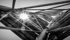 18-09-2018__DSC08665.jpg (Lea Ruiz Donoso) Tags: madrid paseodelacastellana plazadecastilla españa arquitectura rascacielo torre estructuras metal acerto daylight sombra reflection sunflare luz luces sol blancoynegro bw blackandwhite learuizdonoso geometric lineas monochrome