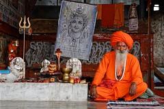 Sadhu - India (My Planet Experience) Tags: sadhu hindu hinduism holy man beard orange saffron turban karma chakra guru shiva vishnu brahma krishna rama yogi yoga culture mystic spirituality religious horizontal day color outdoors pushkar rajasthan india inde भारत ind wwwmyplanetexperiencecom myplanetexperience