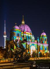 Berliner Dom - Berlin leuchtet 2018 (ThoBra69) Tags: dom berlin berlinerdom berlinleuchtet löwenkämpfer reiterstandbild albertwolff christiandanielrauch nacht fernsehturm