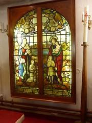 Church - St Chad, Poulton le Fylde 180703 [Stained Glass Window 1a] (maljoe) Tags: church churches stchad stchadpoultonlefylde stainedglass stainedglasswindows stainedglasswindow