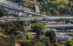 highway 24 / 680 interchange (pbo31) Tags: bayarea california nikon d810 color fall october 2018 boury pbo31 ovverlook walnutcreek eastbay over roadway traffic highway 680 interchange green bart ramp overpass