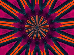 Dominator (Kombizz) Tags: kombizz kaleidoscope experimentalart experimentalphotoart photoart epa samsung samsunggalaxy fx abstract pattern art artwork c423 orange darkgreen purple blue star zereshki dominator geometry