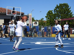 Two girls practice basketball in Lincoln Square Park, Oakland, California (OakMorr) Tags: oakland lincolnsquarerecreationcenter lincolnsquare lincolnsquarepark kevindurantcharityfoundation oaklandparks oaklandparksrecreationyouthdevelopment oaklandparksandrecreation oaklandparksrecreation parksandrecreation parksrecreation oaklanddepartmentofparksandrecreation oaklanddepartmentofparksrecreation oaklanddepartmentofparksrecreationyouthdevelopment oaklandparksrecreationandyouthdevelopment oaklanddepartmentofparksrecreationandyouthdevelopment children girls girlsplaying childrenplaying girlsplayingbasketball playingcatch girlsplayingcatch childrenplayingcatch passing passingbasketball girlspassingbasketball childrenpassingbasketball