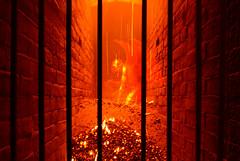 Hell cell (Matt West) Tags: hell halloween cel bars fire orange red heat hot coals devil satan prison