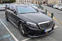 Mercedes S63 AMG V222 (Monde-Auto Passion Photos) Tags: voiture vehicule auto automobile mercedes classe s63 s63amg amg berline noir black sportive rare rareté france fontainebleau