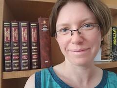 The new bookshelf (quinn.anya) Tags: quinn selfie bookshelf python slavic work office