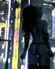 """City Lights"" (Omegapepper) Tags: wallpaper screenarchery screenshot batman arkham knight catwoman pose portrait dark atmosphere night dof bokeh blur minimalistic minimalist virtual digital photomode photography gametography"