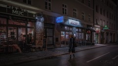 Maggie (karinavera) Tags: city longexposure night photography cityscape urban ilcea7m2 sunset munich deutschland alemania maggie münchen