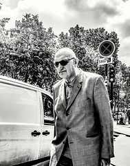 Gentleman out on a stroll... (mikeback-streetphotography) Tags: streetstyle streetphotographer streetarteverywhere streetportrait streetphotographystreet streetlife streetphoto streetartistry streetphotography street streetphotographers streetart france paris bnw urban monochromatic monochrome mono blackwhite black blackandwhite blackandwhitephotography