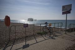 West Pier Seaview (grahambrown1965) Tags: bicycle buoy lifebuoy ricohimagingcompanyltdpentaxk3ii ricoh pentax k3ii pentaxk3ii sigma 1020mm sigma1020mm brighton west pier piers westpier water sea beach shingle hove brightonandhove