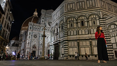 Piazza San Giovanni (Sworldguy) Tags: camera country florence italy sonya73 firenza duomo cathedral baptistery baptisteryofsaintjohn square europe travelphotography nightscene street octogonal florentineromanesque architecture