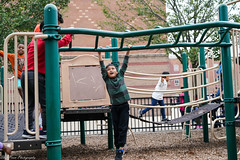 Swinging your life away, and loving every moment of it. (kuntheaprum) Tags: ferryway school playground sony a7riii sonyfe 50mm f14 children fun