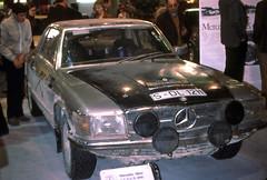 Mercedes 450 SLC 5.0 South America Rally winner  Paris Motor Show  1978 (D70) Tags: salondelautomobile mercedes slc s am rally paris motor show oct 10 78 c107 450 50 international circuit southamerica olympus pen f olympuspenf