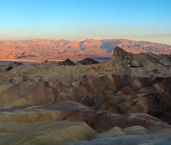 A forest is mystery, but the desert is truth. Life pared to the bone… (ferpectshotz) Tags: zabriskiepoint manlybeacon panamintrange deathvalley badwaterbasin deathvalleynationalpark sunrise sediment erosionallandscape hills mountains furnacecreeklake nationalpark