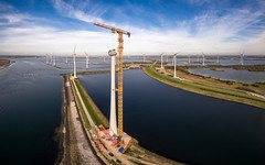 Windpark I (Carsten aus MK) Tags: windmill windmillconstruction windpark windradbau netherlands windenergy windturbine crane panorama panoramaphotography drone aerialphotography aerial