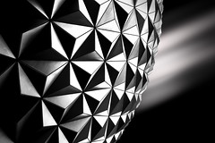 Spaceship Earth (ADW44) Tags: disney world magickingdom bw monochrome epcot leefilters longexposure fineart architecture line angles