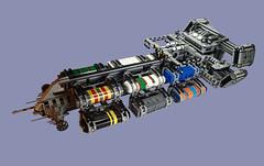 USS Steadfast 12-Pod Cargo Pusher (Greeble_Scum) Tags: