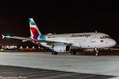 Eurowings D-AGWD HAJ at Night (U. Heinze) Tags: aircraft airlines airways airplane planespotting plane flugzeug haj hannoverlangenhagenairporthaj nikon eddv