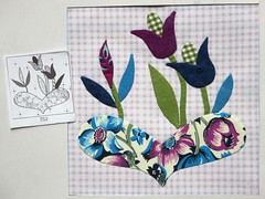(ompompali Claudia) Tags: patchwork chucknohara quiltedpatchwork applique handstitching