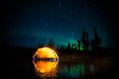 Sleeping on Ice (SteveSchwarzPhotography) Tags: leica19mmn auroraborealis northwestterritories northernlights nikon top20aurora