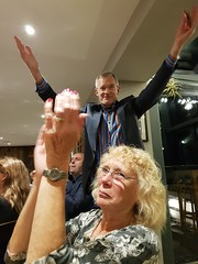2018 0922 638 (SGS8+) Jeremy Vine, Joy; Appledore; The Royal George; ABF Friends' VIP Dinner (Lucy Melford) Tags: samsunggalaxys8 appledore book festival friends vip dinner jeremy vine