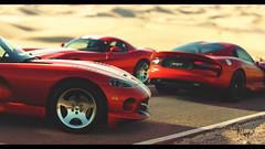 Dodge Viper GTS (at1503) Tags: americancar usa america desert california dodge viper dodgeviper warmtones red yellow road gtsport granturismo granturismosport motorsport racing game gaming ps4 dodgevipergts v10 v10engine wheels sunlight