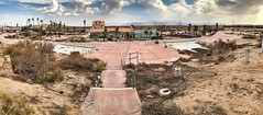 Rock-a-Hoola Waterpark (tom.frohnhofer) Tags: lake dolores rockahoola clifornia waterpark abandoned derelict folly discover newberry springs mojave dessert route 66 usa america epic roadtrip iphone interstate tom frohnhofer travel photography lazy river big bopper