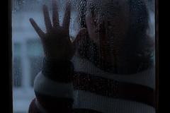 Horror Story (raffaella.rinaldi) Tags: horror hand silhouette people window drops rain woman halloween fear cold