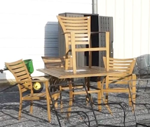 Nice Allen & Roth patio table with 4 chairs ($145.60)