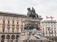艾曼紐二世雕像 | Milano, Italy (sonic010739) Tags: olympus omd em5markii olympusmzdigital1240mm italy milano