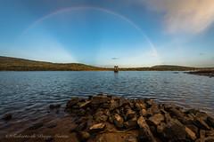 Arco iris sobre La Muedra (Roberto_48) Tags: ngc arco iris rainbow muedra soria vinuesa cuerda pozo embalse