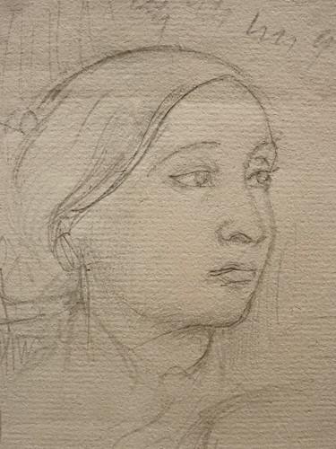 DEGAS Edgar,1858-67 - La Famille Bellelli, Visages et Bras, Etudes (Orsay) - Detail 16