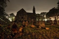 St. Chads Church (tbabetzki) Tags: halloween graveyard spooky manchester church dramatic