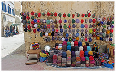 Street Stand - Essaourai, Morocco (TravelsWithDan) Tags: sales candid streetstand hats essaourai morocco street city urban africa canong3x