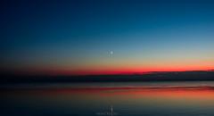 Moody Blues (wardkeijzer_107) Tags: sunset moon water oosterschelde landscape seascape landschap night blue hour colors mirroring nikon d7200 zeeland holland