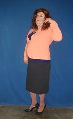 Flicking her Hair (annad20061) Tags: redhead secretary sissy office seraphic feminized enfemme girly