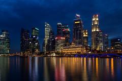 Singapore Skyline 2013 (Obachi) Tags: fullertonhotel night marinabay singapore singapur skyline flickr urbanlife