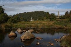 Glendalough (Chris*Bolton) Tags: glendalough wicklow ireland monastic monastery morning scene scenery river stream landscape countywicklow saintkevin