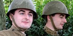 Face. Sept 2018 (Simon W. Photography) Tags: face faces eyebrows eyes nose army man men male gentlemen gentleman military hat hats cap caps helmet simonhx100v sonyhx100v hx100v
