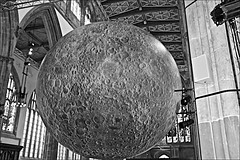 Hull Minster Moon  Monochrome (brianarchie65) Tags: hullminster hull kingstonuponhull cityofculture yorkshirecameraramblers yorkshireblackandwhite monochrome blackandwhite blackandwhitephotos blackandwhitephoto blackandwhitephotography blackwhite123 blackwhiterealms unlimitedphotos ngc canoneos600d brianarchie65 geotagged church churches moon architecture buildings