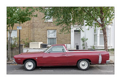 An American in London, 1960's Ford Ranchero, East London, England. (Joseph O'Malley64) Tags: fordranchero ford fordmotorcompany usa america american classic 1960s car automobile motorcar vehicle utilityvehicle pickup eastlondon eastend london england uk britain british greatbritain road parking parked street onstreetparking residential homes houses housing victorian victorianbuildings thebuiltenvironment dwellings abodes brickwork bricksmortar cement pointing londonbrick georgianmitredbricklintels stucco stuccowork mouldings baywindows windows doubleglazing upvcdoubleglazing replacementwindows door doorway woodendoor entrance exit shed wheeliebin walls railings trees pavement granitekerbing tarmac parkingbays urban urbanlandscape fujix fujix100t accuracyprecision sign signage signpost permitparking chromehubcaps