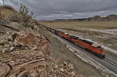 Badlands Coal - Sully Springs, ND (MinnKota Railfan) Tags: rail railway vnsf bnsf burlingtonnorthernsantafe train trains coal badlands sully springs north dakota
