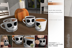 Sway's [Skull] Mugs | FLF (Sway Dench / Sway's) Tags: flf sways vr sl halloween skull mug mugs tea cocoa coffee drink spooky pumpkin fall autumn decor