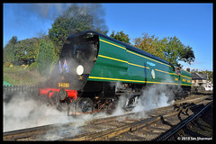 No 34081 92 Squadron 28th Sept 2018 North Yorkshire Moors Railway Steam Gala Grosmont (Ian Sharman 1963) Tags: no 34081 92 squadron 28th sept 2018 north yorkshire moors railway steam gala grosmont class wc bb west country and battle of britian 462 station engine rail railways train trains loco locomotive passenger heritage line nymr whitby pickering goathland