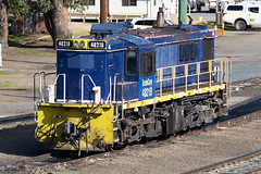 Waiting (PJ Reading) Tags: train rail railway track transport travel transportation cargo goods freight locomotive intermodal container superfreighter diesel nsw newsouthwales australia aus aussie southern south southernhighlands 48class pacificnational pn pacnat graincorp 482class coota cootamundra yard stable stabled parked