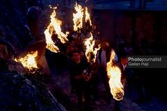 People participate during a torch procession during celebrations of the Kurdish New Year Newroz in Akre, Aqrah City in Duhok, Kurdistan Region, northern Iraq, 20 March 2018.Gailan Hjai-65-IMG_1271 (Gailan Haji) Tags: newroz kurd peshmerga kurdistan kurdistanregion akre city erbil hewler duhok photojournalist photojournalism canon newyear canon5dmarkiii canon5dmark3 5dmarkiii fair kurdishman agency storytelling storyteller photostory fullframe 35mm canonlens night darknight nawroz party yazidi photography photos photo photographer image color colorphoto travel human tradetionalclothes