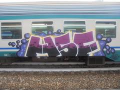 204 (en-ri) Tags: hsf crew viola giallo bianco 2018 train torino graffiti writing
