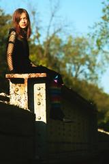 (teddybear--11) Tags: color day portrait photography photos sunset bridge model dress canon adobe photoshop railroad female nature trees teddybear11 colorful scene oklahoma tulsa amateur october 2018 black dark contemplation share flickr libra socks sun rainbow