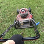 20181015 220/365: Never imagined that I would be almost 70 and here I am still mowing my own yard. thumbnail